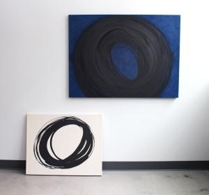Indigo, 2014   Encre et acrylique sur toile, 81 x 109 cm