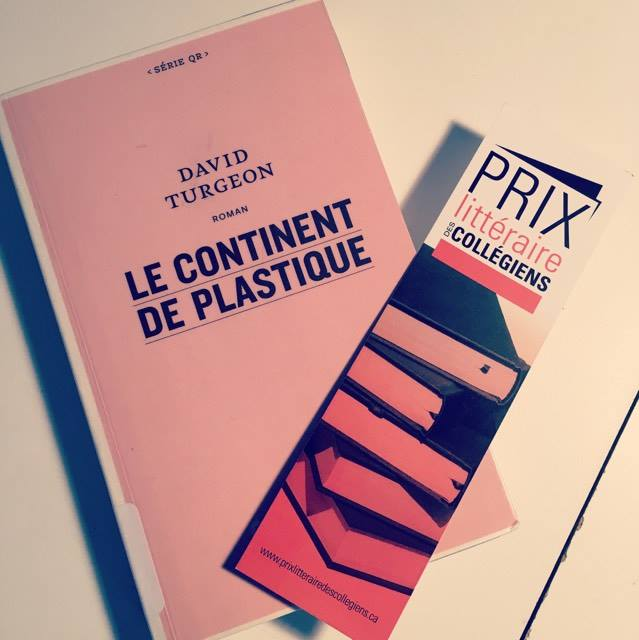 Étudiants, cégep, David Turgeon, Discussions, Le continent de plastique, lecture, littérature. le fil rouge, Prix littéraire des collégiens, livres, roman, le Quartanier