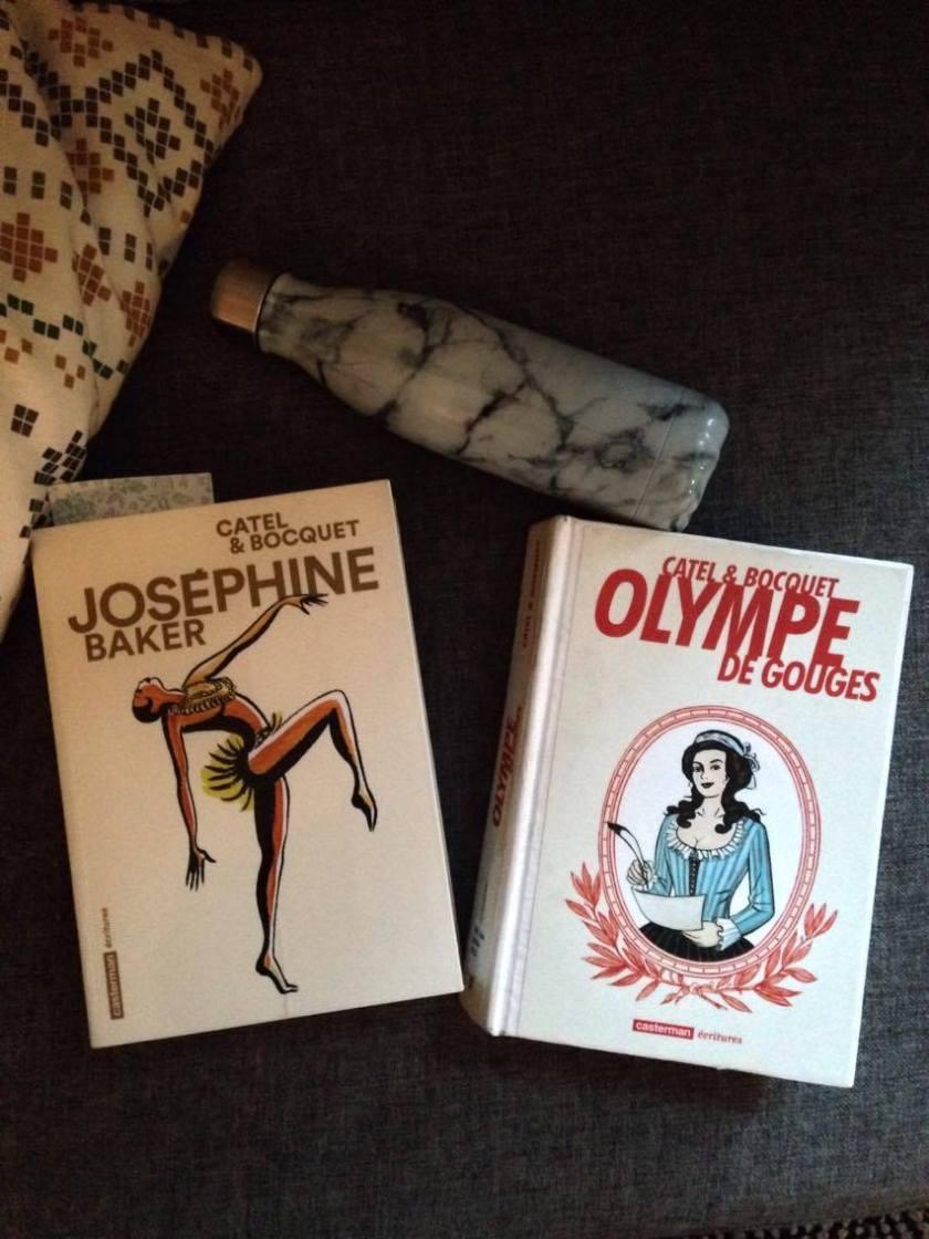Bande dessinée, Cartel Bocquet, féminisme , Olympe de Gouges, Joséphine Baker, le fil rouge, lefilrougelit, BD, femmes inspirantes, destin, féministes, portraits de femme