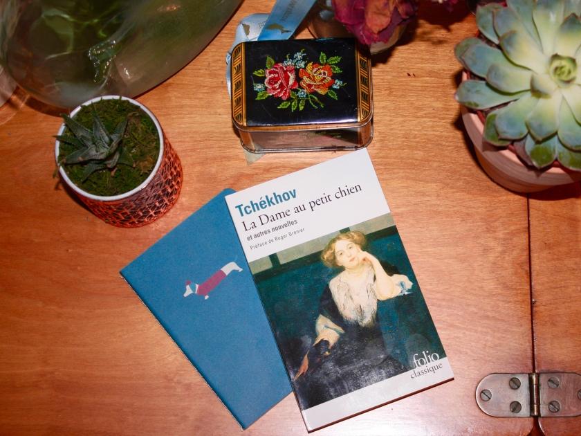 Anton Tchékhov, Bibliothérapie, classique de la littérature internationale, Folio, Gallimard, Gurov et Anna, La Dame au petit chien, Le fil rouge, Le fil rouge lit, lecture, Les femmes, les livres qui dont du bien, littérature, Littérature et film, littérature russe, livres, nouvelles, Rafaël Ouellet, Tchékhov, Un film, Tchékhov et les femmes, Tchékhov