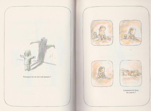 Illustration : Claude K. Dubois Album : Pas belle Collection Pastel aux Éditions École des loisirs