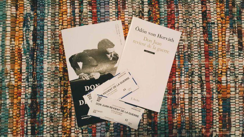 Amour, Ödön von Horváth, Bibliothérapie, Don Juan, espoir, expressionnisme, Florent Siaud, Guerre, Le fil rouge, Le fil rouge lit, lecture, les livres qui font du bien, littérature, livres, Théâtre Prospero, Théâtre