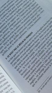 Anne-Marie Beaudoin-Bégin, langue affranchie, le fil rouge, le fil rouge lit, Bibliothérapie, littérature, lecture, livres, essais, essais québécois, les livres qui font du bien, langue française, se raccomoder avec l'évolution linguistique, franglais, Éditions somme toute, Éditions somme toute, identité