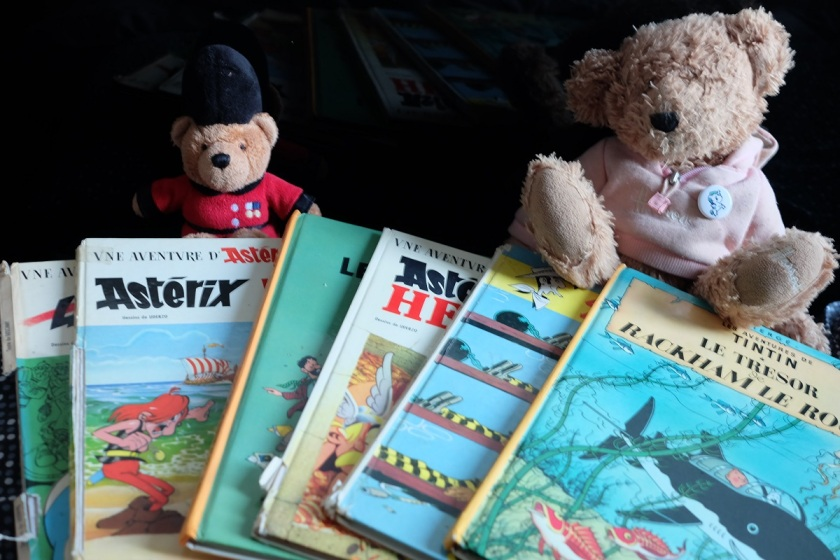 Bande dessinée, le fil rouge lit, livres, bibliothérapie, les livres qui vous font du bien, Astérix, Tintin, Jeunesse