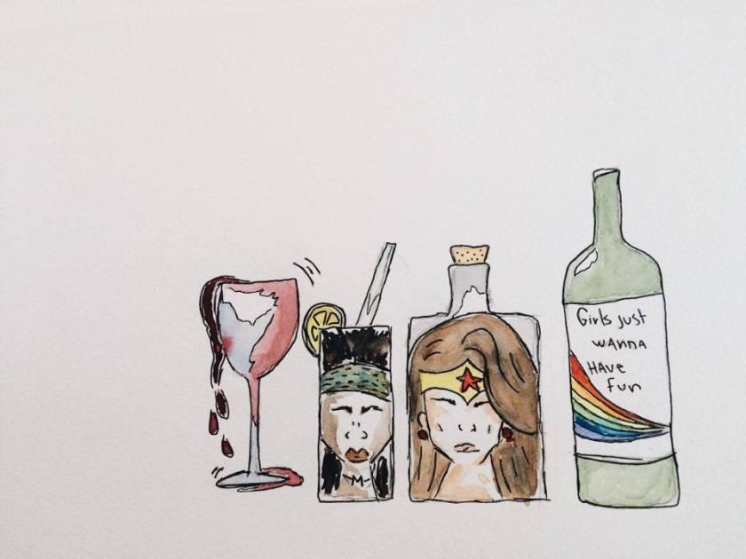 alcool, alcoolisme, anxiété, anxieuse, anxieux, Bibliothérapie, Candi Lauper, chronique, Chroniques d'une anxieuse, guerrière, Le fil rouge, le fil rouge lit, lecture, les livres qui font du bien, Lisbeth Salander, littérature, livres, Michonne, nervosité, stress, superwoman, trouble de l'anxiété généralisé, Walking Dead
