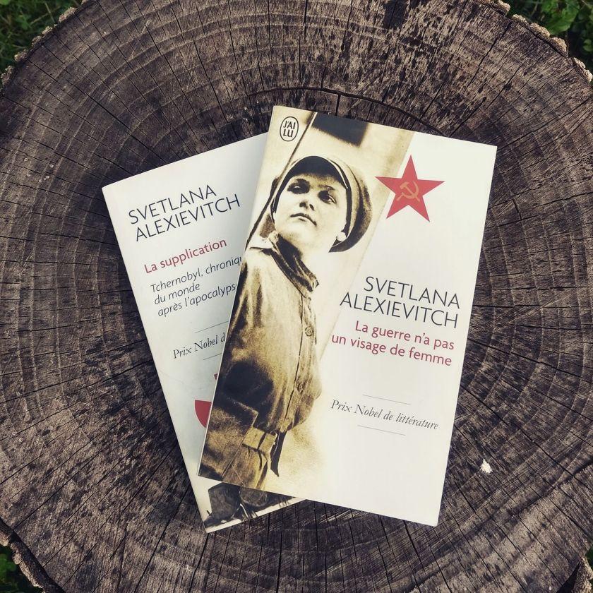 Le fil rouge le fil rouge lit bibliothérapie littérature lecture livres les livres qui font du bien Svetlana Alexievitch Une auteure et son oeuvre La supplication La guerre n'a pas un visage de femme