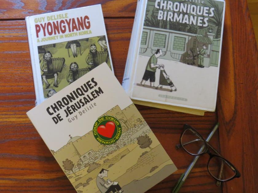 Le fil rouge; Le fil rouge lit; Bibliothérapie; Littérature; Lecture; Livres; Les livres qui font du bien; BD; Guy Delisle; Pyongyang; Chroniques birmanes; Chroniques de Jérusalem; Médecins sans frontières