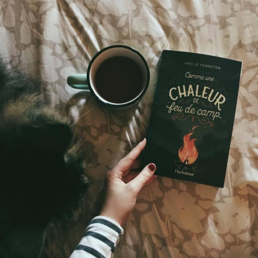 Comme une chaleur de feu de camps, Amélie Panneton, Hurtubise, éditions Hurtubise , littérature jeunesse, lefilrougelit, bibliothérapie, les livres qui font du bien, littérature jeunesse adolescente, amour, premier amour, agression, dénonciation, chaleur de feu de camps, romans pour adolescent-es