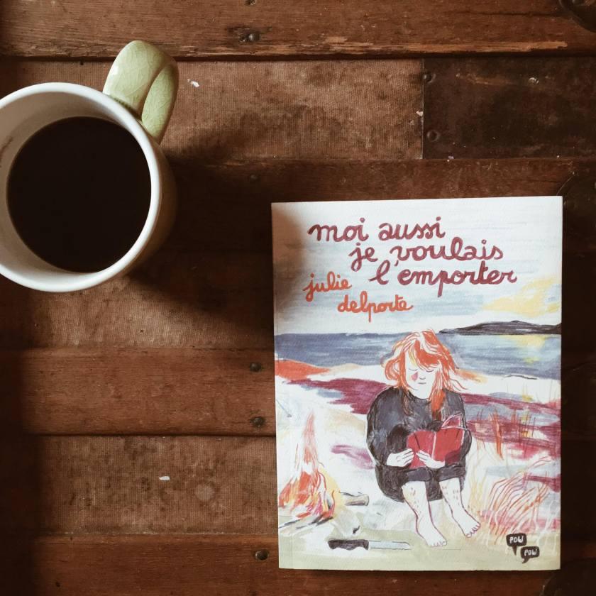 Moi aussi je voulais l'emporter, Julie Delporte, bande dessinée, roman graphique, pow pow éditions, journal, féminisme, place de l'art, place du féminisme, liberté, solitude, illustratrice, le fil rouge lit, le filrougelit, littérature québécoise, les livres qui font du bien, roman graphique québécois