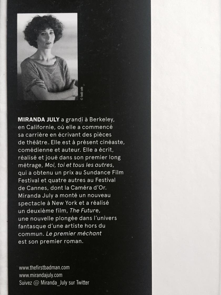 Miranda July, Le fil rouge, bibliothérapie, le premier méchant, flammarion