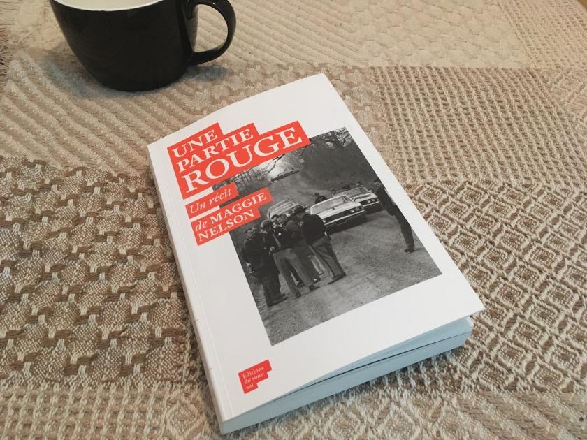 le fil rouge lit; le fil rouge; bibliothérapie; Une partie rouge; Maggie Nelson; Non fiction; récit; lecture; livre