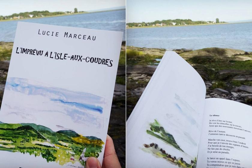 Bibliothérapie, C'est de la faute des livres, L'Isle-aux-Coudres, poésie, Le fil rouge, le fil rouge lit, lecture, lire et voyager, livres, livres qui font du bien, plaisir de lire, rituels de voyage, voyages