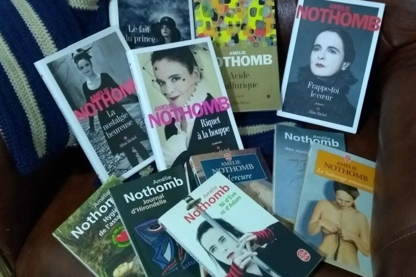Le fil rouge; Le fil rouge lit; Bibliothérapie; Littérature; Lecture; Livres; Les livres qui font du bien; Amélie Nothomb; Stupeur et tremblements; Barbe bleue; Pourquoi revenir à Amélie Nothomb; Autofiction