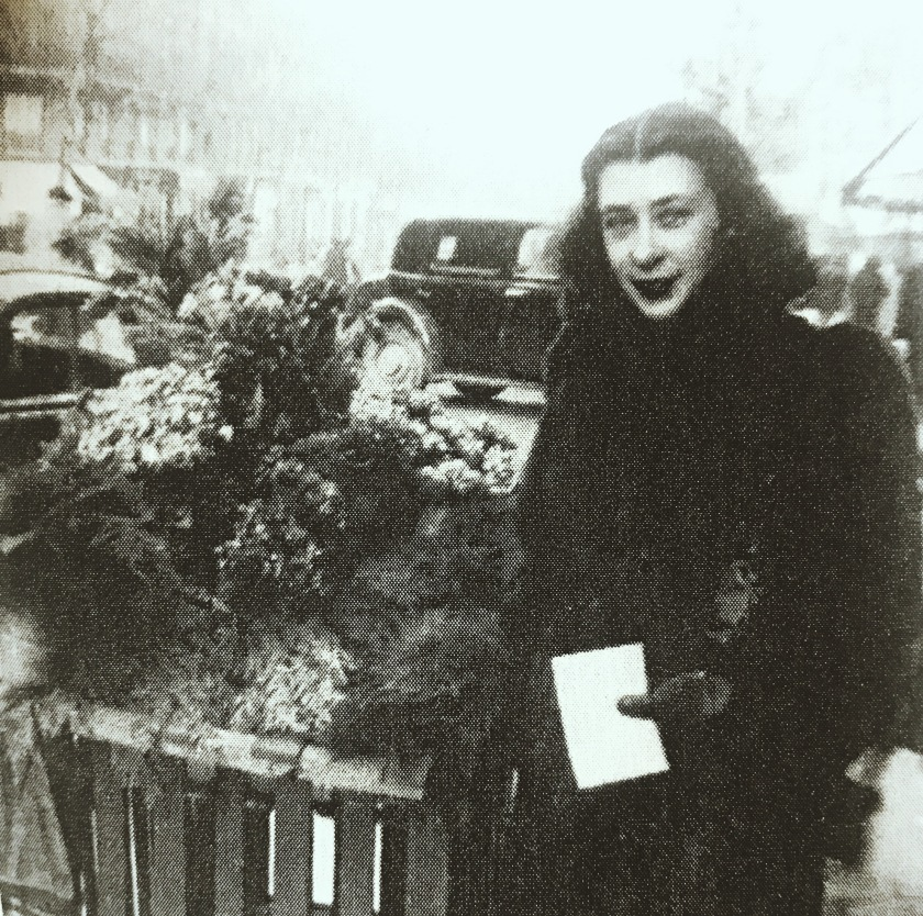 Rachel Laforest à Paris, en 1948, avant son divorce.