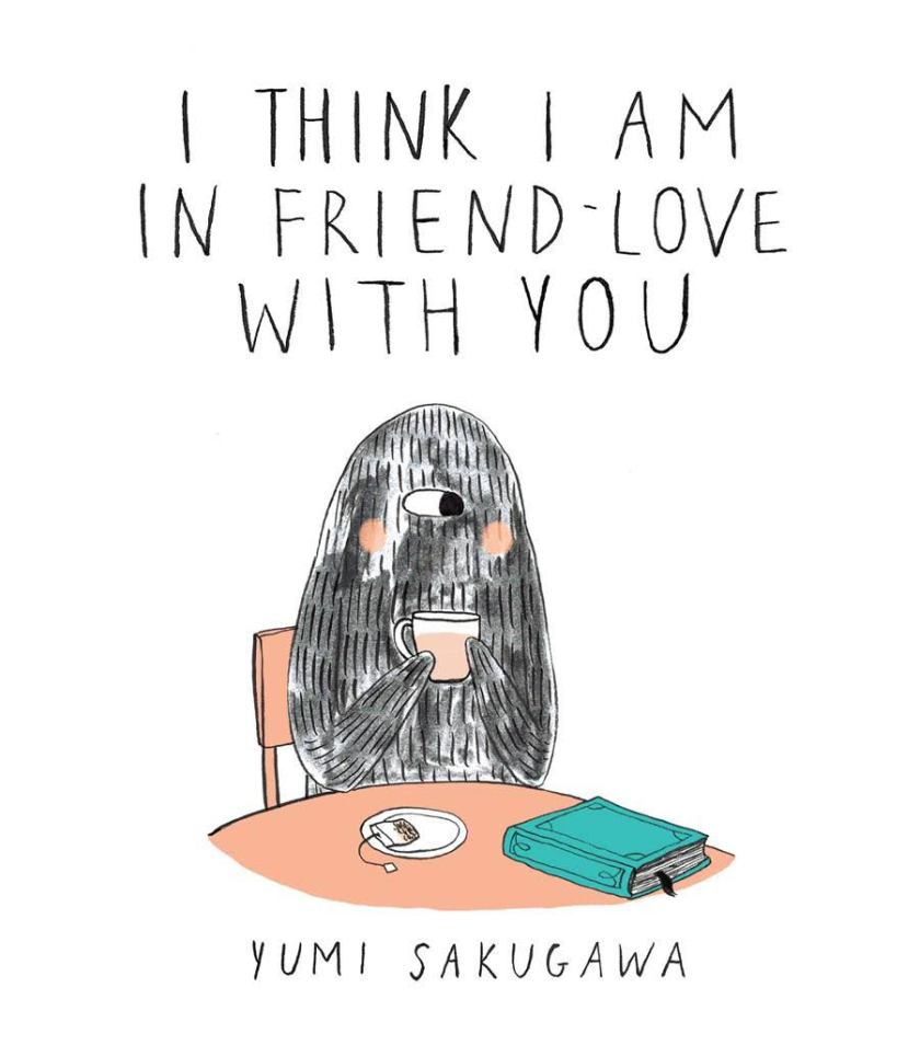 saint-valentin, st-valentin, fête de l'amour, yumi sakugawa, i think i am in friend love with you, le fil rouge, le fil rouge lit, les livres qui font du bien, bibliothérapie