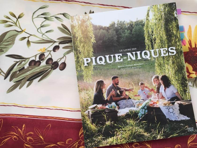 Le livre des pique-niques, beaux livres de cuisine, Marie-Joanne Boucher, Parfum d'encre, pique-nique, livre de cuisine
