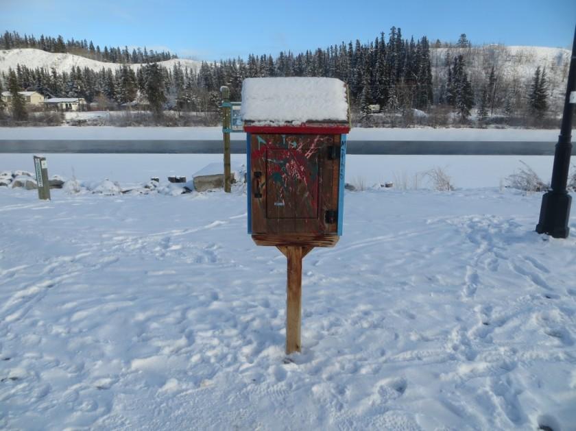bibliothèque au bord du Yukon