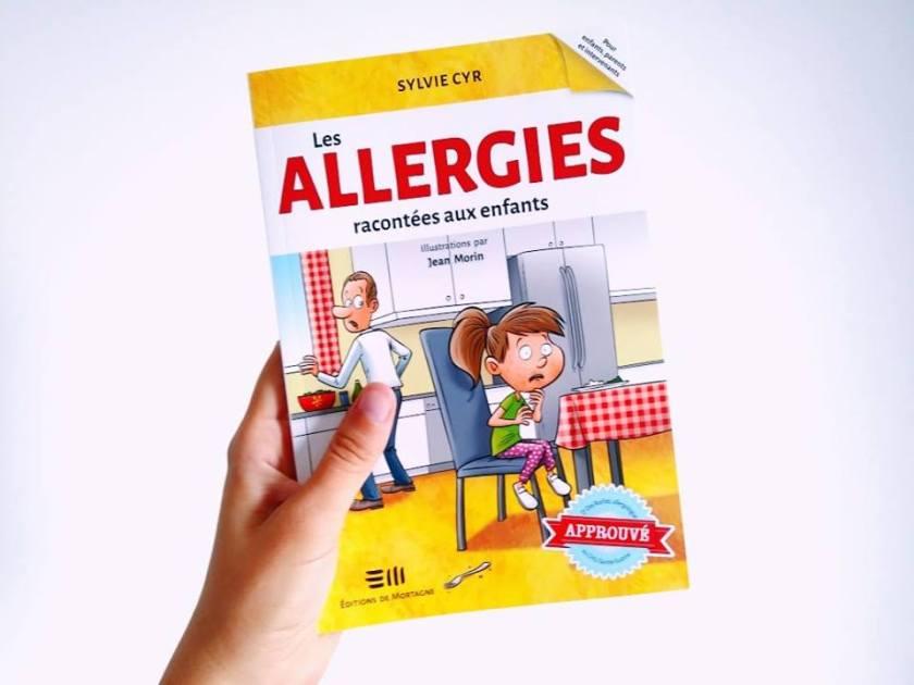 Les allergies alimentaires, Sylvie Cyr, Les allergies alimentaires racontées aux enfants, éditions de Mortagne, Le fil rouge, le fil rouge lit, les livres qui font du bien, enfant allergique, gérer les allergies alimentaires à l'école, vivre avec les allergies alimentaires, anaphylactie