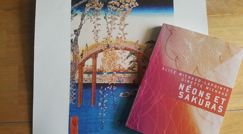 Japon, récit de voyage, éditions Héliotrope, Ginette Michaud, Alice Michaud-Lapointe, Série K, le fil rouge, le fil rouge lit, bibliothérapie, les livres qui font du bien, littérature, littérature québécoise, néons et sakuras