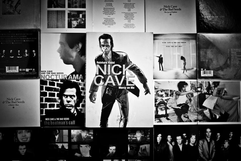 Nick Cave, Mercy on Me, Roman graphique, Reinhard Kleist, Biographie fictionelle, Lecture, Littérature, Musique, Poésie, Artiste, Dessin, Le Fil rouge lit, Le Fil rouge