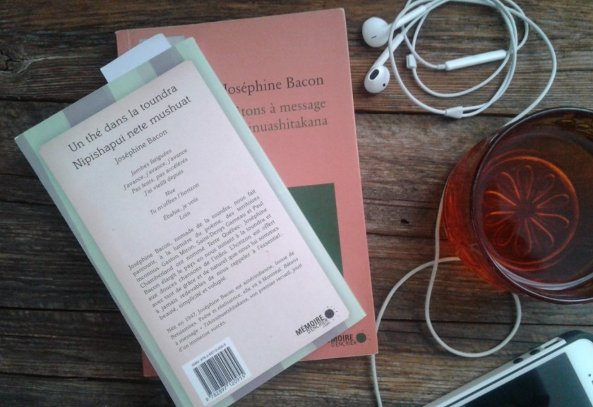 le fil rouge, le fil rouge lit, bibliothérapie, lecture, livres, livres qui font du bien, Un thé dans la toundra, Nipishapui nete mushuat, Joséphine Bacon, Mémoire d'encrier, poésie, territoire, ancêtres, exil, chasse, caribou, vieillesse