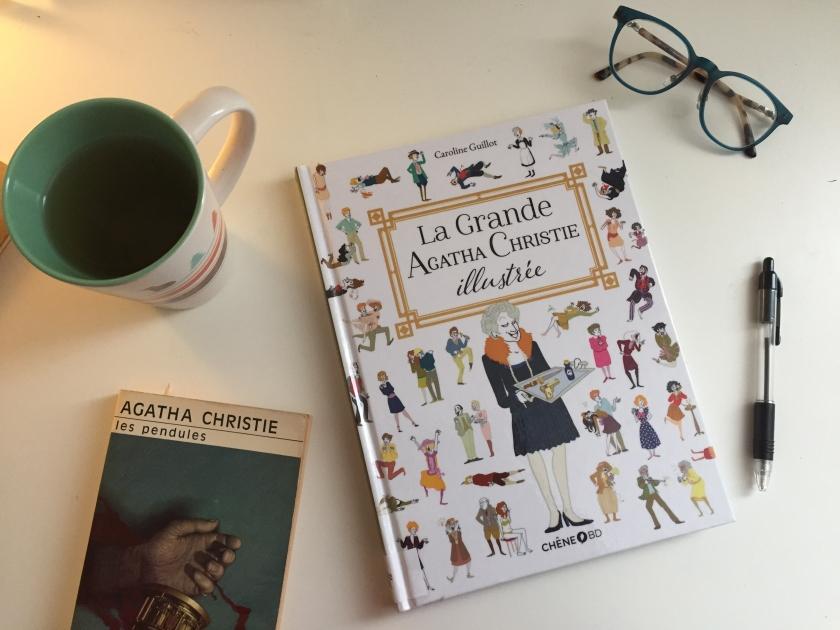 La Grande Agatha Christie illustrée, Caroline Guillot, Agatha Christie, le fil rouge, le fil rouge lit, bibliothérapie, littérature, les livres qui font du bien