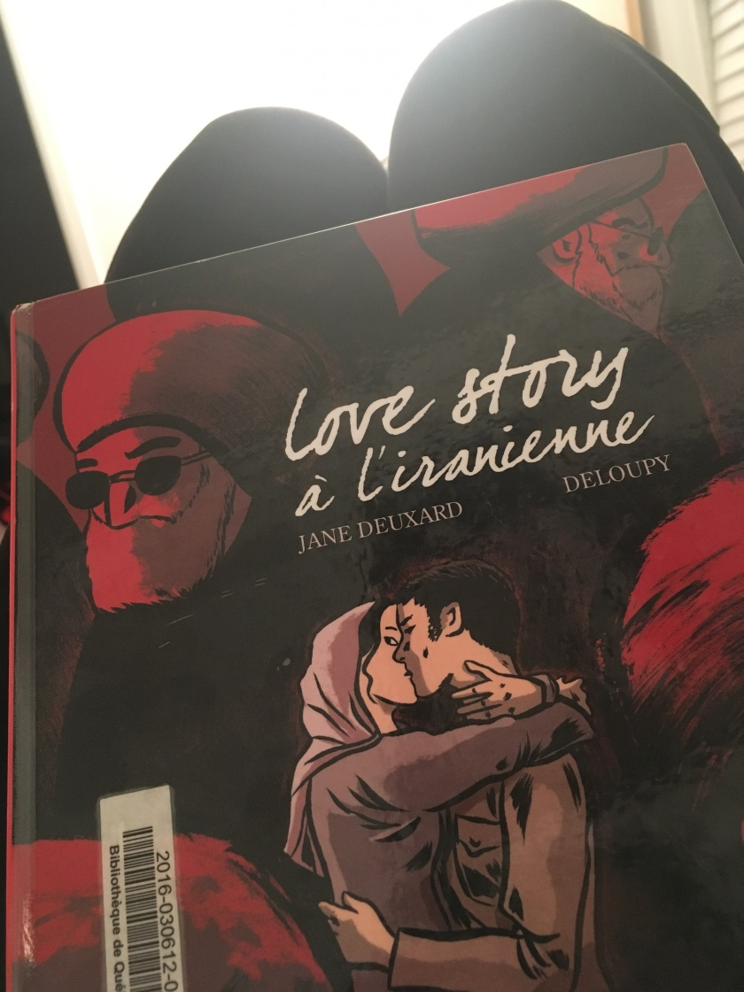 Jane Deuxard, Deloupy, Love story à l'iranienne, Iran, politique, relations amoureuses, Delcourt, roman graphique.