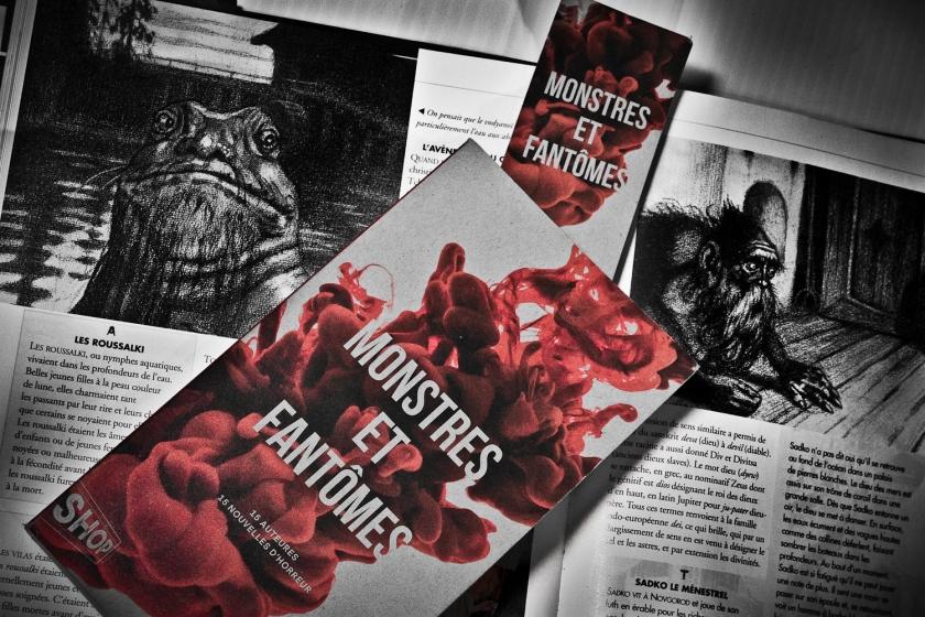 Monstres et fantômes, Collectif, Québec Amérique, La Shop, Recueil de nouvelles, nouvelles, Le fil rouge, Le fil rouge lit, lecture, littérature québécoise,