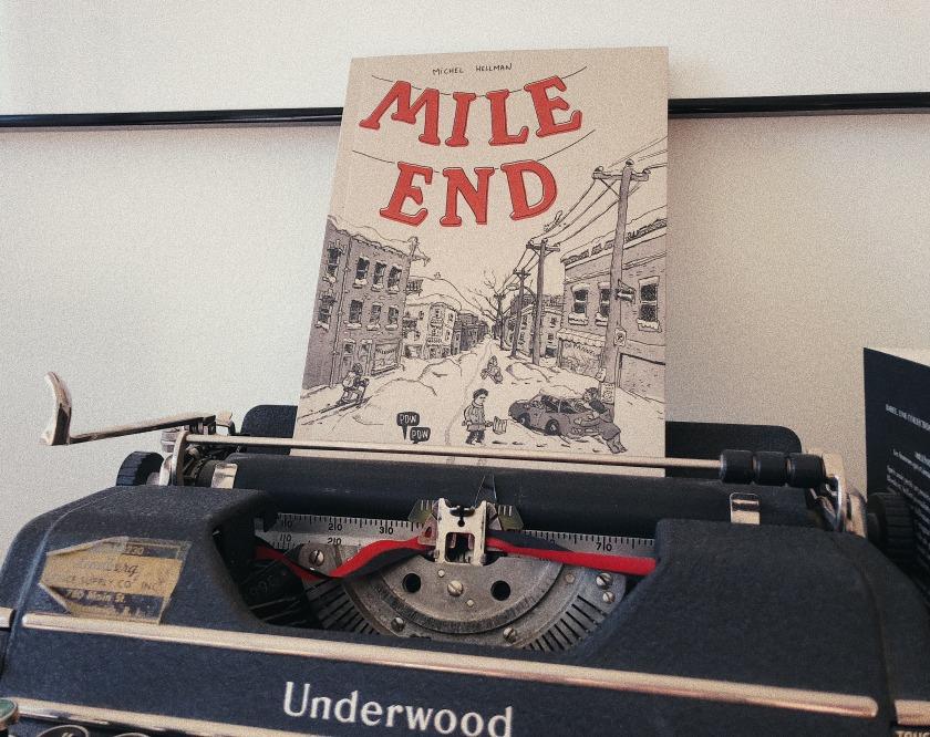 le fil rouge, le fil rouge lit, bibliothérapie, littérature, lecture, livres, les livres qui font du bien, Mile End, Michel Hellman, Pow Pow, ville, Montréal, écrivain, saisons, bande dessinée