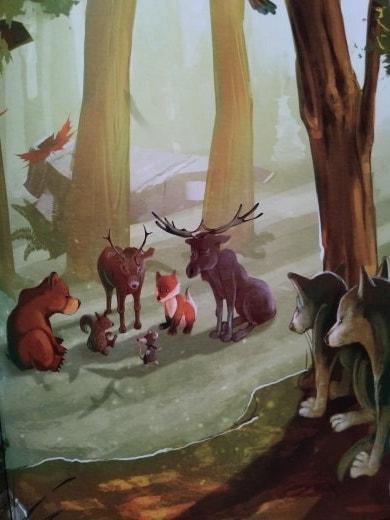 Grand rassemblement des animaux dans la forêt pour établir les règles du concour de Rat.