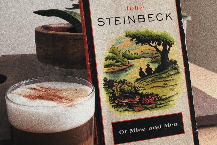 Le fil rouge, le fil rouge lit, bibliothérapie, littérature, lecture, livres, les livres qui font du bien, des souris et des hommes, Of mice and men, John Steinbeck, Penguin books, mort, amitié, déficience, amour