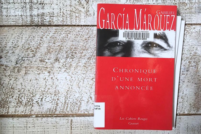 le fil rouge, le fil rouge lit, bibliothérapie, littérature, lecture, livres, les livres qui font du bien, Chronique d'une mort annoncée, Gabriel Garcia Marquez, Grasset, honneur, meurtre, Colombie, littérature étrangère