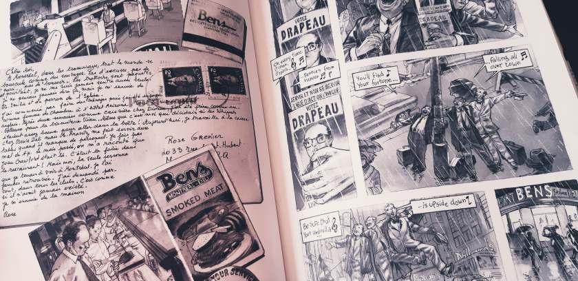 fiction historique, jazz, Montréal, Gaspésie, Le fil rouge, bibliothérapie, La Pastèque, La femme aux cartes postales, lefilrougelit, littérature, lecture, Jean-Paul Eid, Claude Paiement, bande dessinée québécoise,